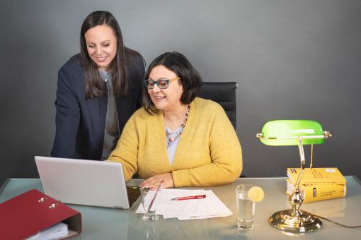 Renate Rosner im Büroservice